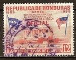 Sellos de America - Honduras -  150a nacimiento de Abraham Lincoln.Monumento a Lincoln, en Washington.