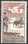 Stamps Spain -  1266 - Tauromaquia, toros en el pueblo