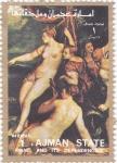 Stamps United Arab Emirates -  pintura-desnudos