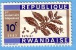 Stamps : Africa : Rwanda :  1er Anniversaire Indépendance