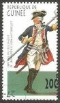 Stamps : Africa : Guinea :  Uniforme militar