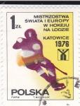 Sellos de Europa - Polonia -  Jockey sobre hielo