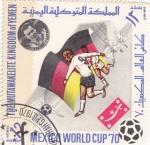 Stamps Yemen -  copa del Mundo de futbol Mexico-70