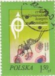 Stamps Poland -  congreso de parasitología-malária