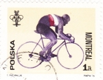 Stamps : Europe : Poland :  MONTREAL- 76  -ciclismo