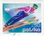 Sellos de Europa - Polonia -  INNSBRUCK-1976  - salto de esquí