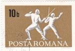 Stamps Romania -  esgrima