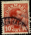 Stamps Denmark -  Rey Christian X. 1913-1919. 10 ores