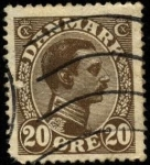 Sellos de Europa - Dinamarca -  Rey Christian X. 1913-1919. 20 ores