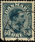 Stamps Europe - Denmark -  Rey Christian X. 1913-1919. 60 ores