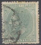 Stamps Spain -  ESPAÑA 201 ALFONSO XII
