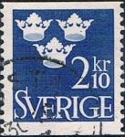 Sellos de Europa - Suecia -  ESCUDO 1954. Y&T N� 394