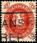 Stamps Denmark -  Conmemoración 60 años del rey Christian X 1930 15 ores