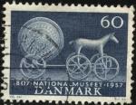Sellos de Europa - Dinamarca -  150 años de la fundación del Museo Nacional de Dinamarca. 1957. 60 ores