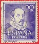 Sellos de Europa - España -  Literatos - Ruiz de Alarcón