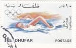 Stamps Asia - Oman -  munich-72 - natación  DHUFAR