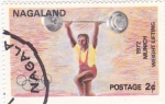 Stamps Asia - Nagaland -  munich-72 -halterofilia