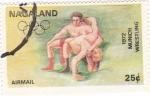 Stamps Asia - Nagaland -  munich-72 -lucha greco-romana