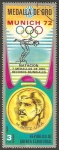 Stamps Equatorial Guinea -  Medallas de oro en las Olimpiadas Munich 72, M. Spitz