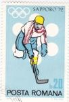 Stamps : Europe : Romania :  J.J.O.O. -SAPPORO -72   - Jockey sobre hielo