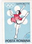 Stamps Romania -  J.J.O.O. -SAPPORO -72   - patinaje artístico