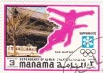Stamps Bahrain -  J.J.O.O. -SAPPORO -72   - patinaje artístico