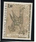 Stamps : Europe : Andorra :  Fresco Romano de la iglesia de Saint Cerni de Nagol