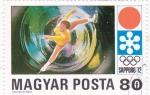 Sellos de Europa - Hungría -  J.J.O.O. -SAPPORO -72   - patinaje artístico