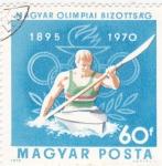 Sellos del Mundo : Europa : Hungría : 1895 OLIMPIADAS 1970 -Piragua