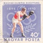 Stamps : Europe : Hungary :  1895 OLIMPIADAS 1970 -boxeo