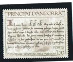 Stamps : Europe : Andorra :  7º centenario de la signatura dels Pareatges