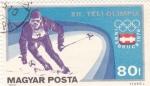 Stamps Hungary -  J.J.O.O. - INNSBRUCK-76  -esquí