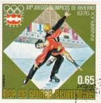 Stamps Equatorial Guinea -  J.J.O.O. - INNSBRUCK-76  - Patinaje artístico