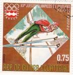 Stamps Equatorial Guinea -  J.J.O.O. - INNSBRUCK-76  - Salto de esquí