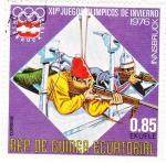 Sellos de Africa - Guinea Ecuatorial -  J.J.O.O. - INNSBRUCK-76  - Biatlón