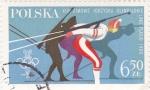 Stamps Poland -  J.J.O.O. LAKE PLACIO - Biatlón