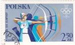 Stamps Poland -  J.J.O.O. - MOSCÚ-80  - Tiro con arco