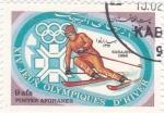 Stamps : Asia : Afghanistan :  J.J.O.O. - SARAJEVO -84  - Esquí de slalom