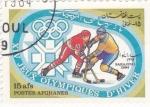 Stamps : Asia : Afghanistan :  J.J.O.O. - SARAJEVO -84  - jockey sobre hielo
