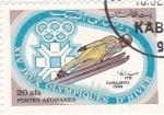 Stamps : Asia : Afghanistan :  J.J.O.O. - SARAJEVO -84  - Salto de Esquí