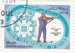 Stamps : Asia : Afghanistan :  J.J.O.O. - SARAJEVO -84  - Biatlón