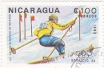 Sellos de America - Nicaragua -  J.J.O.O. - SARAJEVO -84  - Slalom