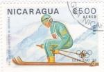 Stamps Nicaragua -  J.J.O.O. - SARAJEVO -84  - Esquí