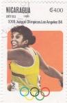 Sellos de America - Nicaragua -  J.J.O.O. - LOS ANGELES -84 - Lanzamiento de disco