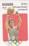Stamps : America : Nicaragua :  J.J.O.O. - LOS ANGELES -84  -Basquet