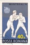 Sellos de Europa - Rumania -  J.J.O.O. - MONTREAL-76  -Boxéo