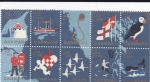Sellos del Mundo : Europa : Dinamarca : mapa-Dinamarca-Noruega