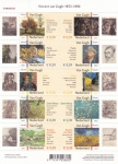 Stamps : Europe : Netherlands :  Vincent van Gogh:  1853-1890