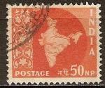 Sellos del Mundo : Asia : India : Mapa de la India.