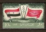 Sellos del Mundo : Africa : Egipto : Aniv de la primera proclamación de los Estados Unidos Árabes (UAR y Yemen).